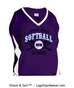 Women's Deluxe Racerback Softball Jersey Design Zoom